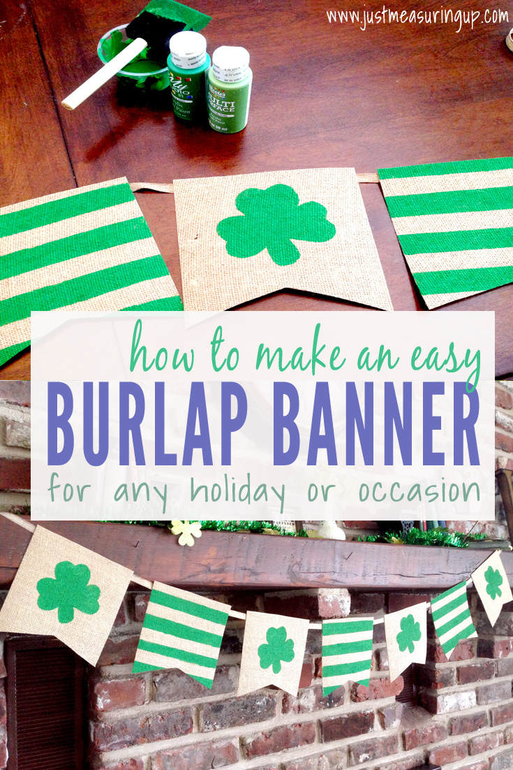How to Make a Burlap Banner in Less Than an Hour