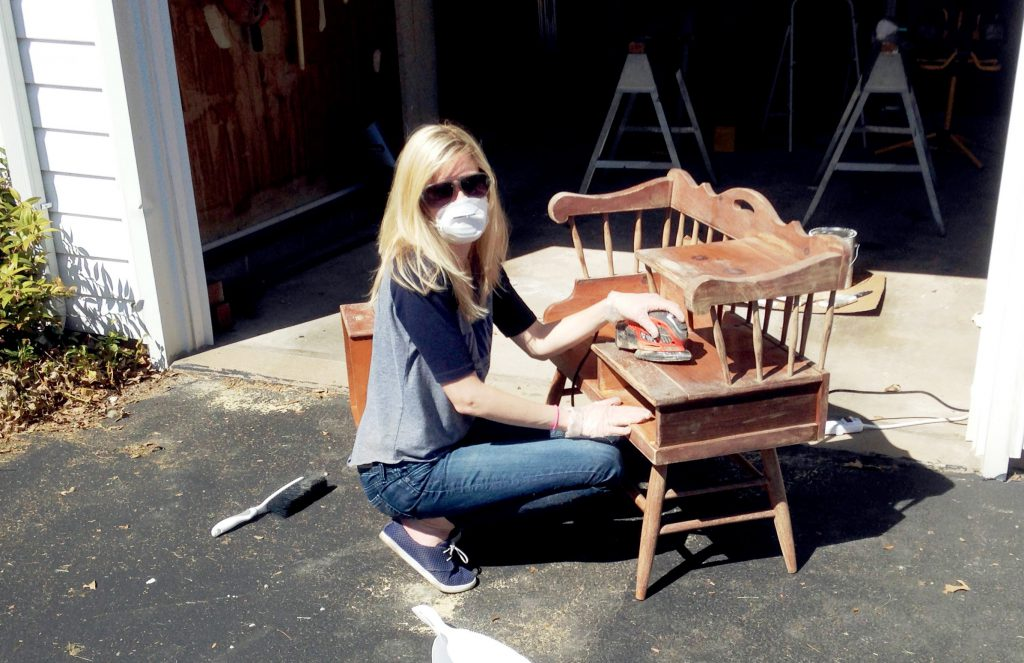 How to refinish an old telephone table