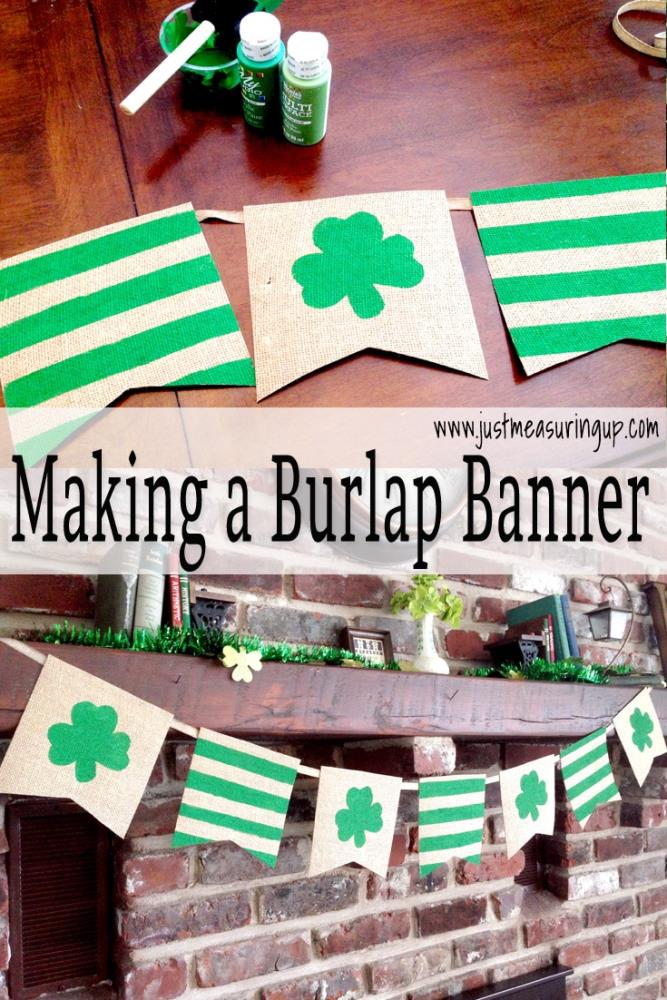 How to Make a DIY Burlap Banner