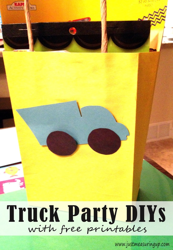 Amazing Truck Party Ideas - Truck Goody Bags