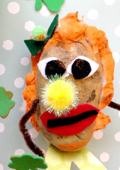 Real Mrs. and Mr. Potato Head Craft for Kids