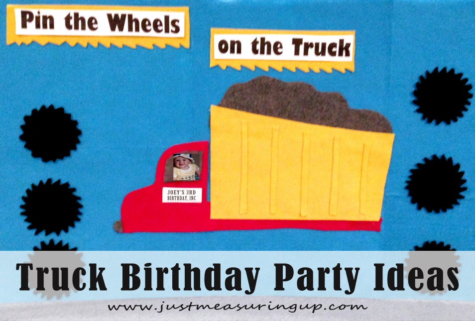 Amazing Truck Party Ideas - Pin the Wheels on the Truck Felt Board