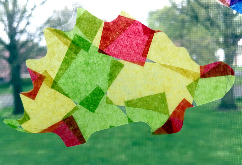 Rainy Day Kids Craft - Making DIY Suncatchers with tissue paper