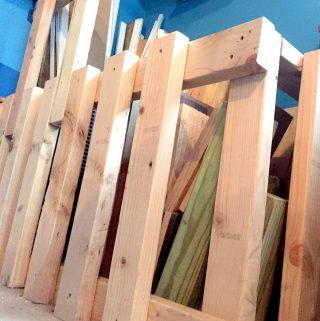 How to Build a Scrap Wood Storage Bin - Easy Garage Organization Tips