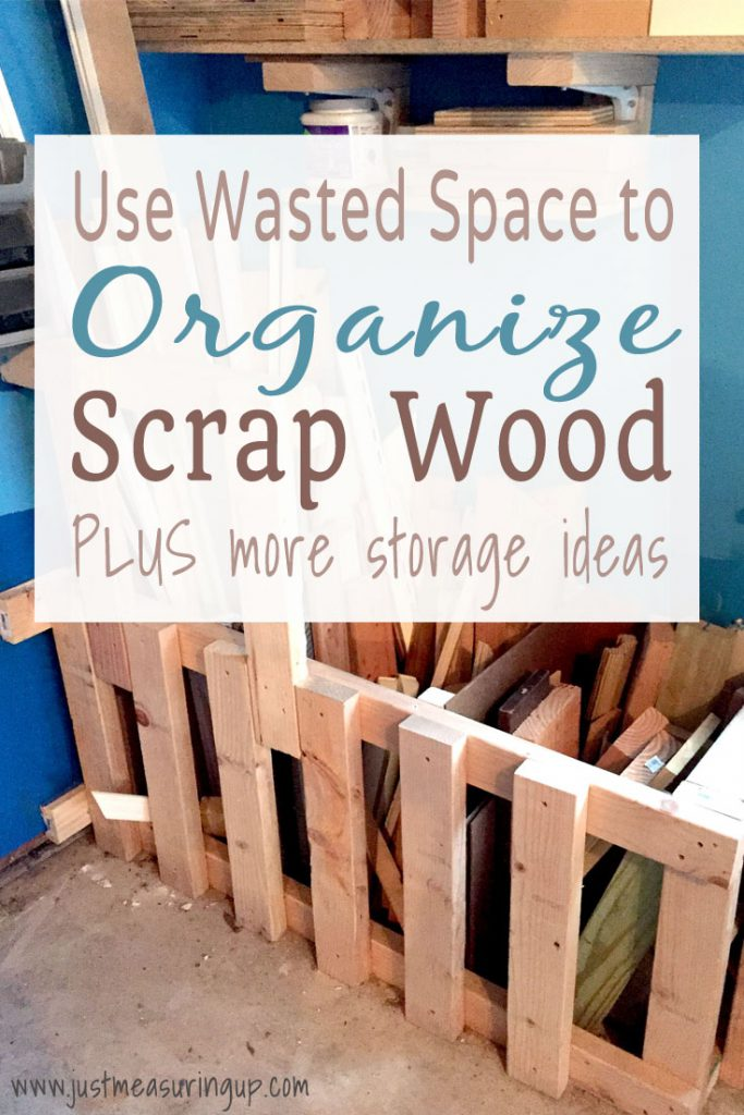 Make a DIY scrap wood bin with wasted garage space