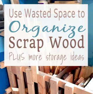 Make a DIY scrap wood pen with wasted garage space