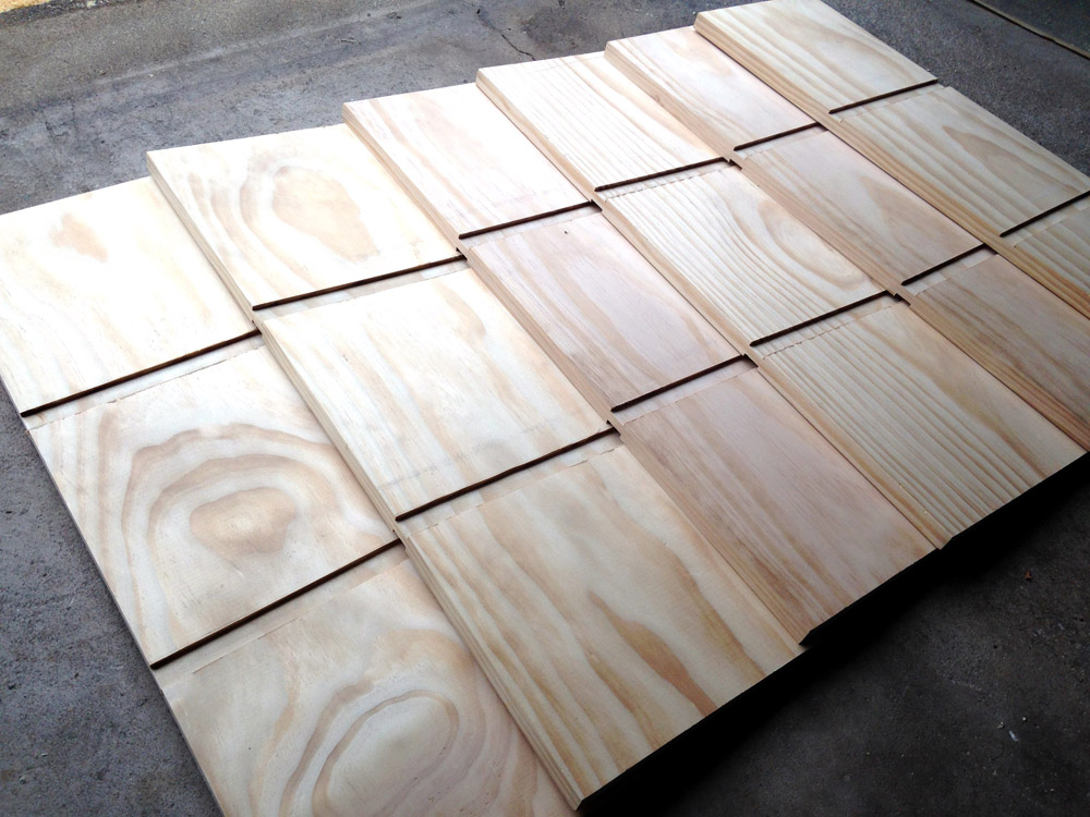 Cutting the boards for DIY Cubby Shelving