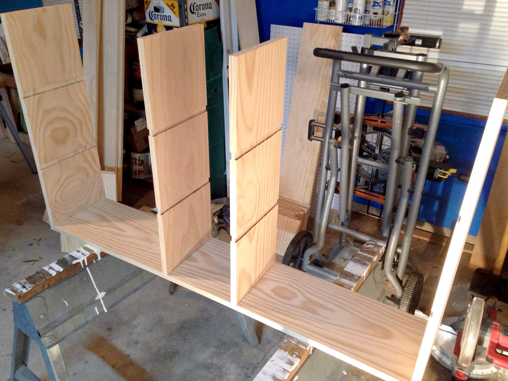 Securing the Vertical Boards for DIY Cubby Shelves