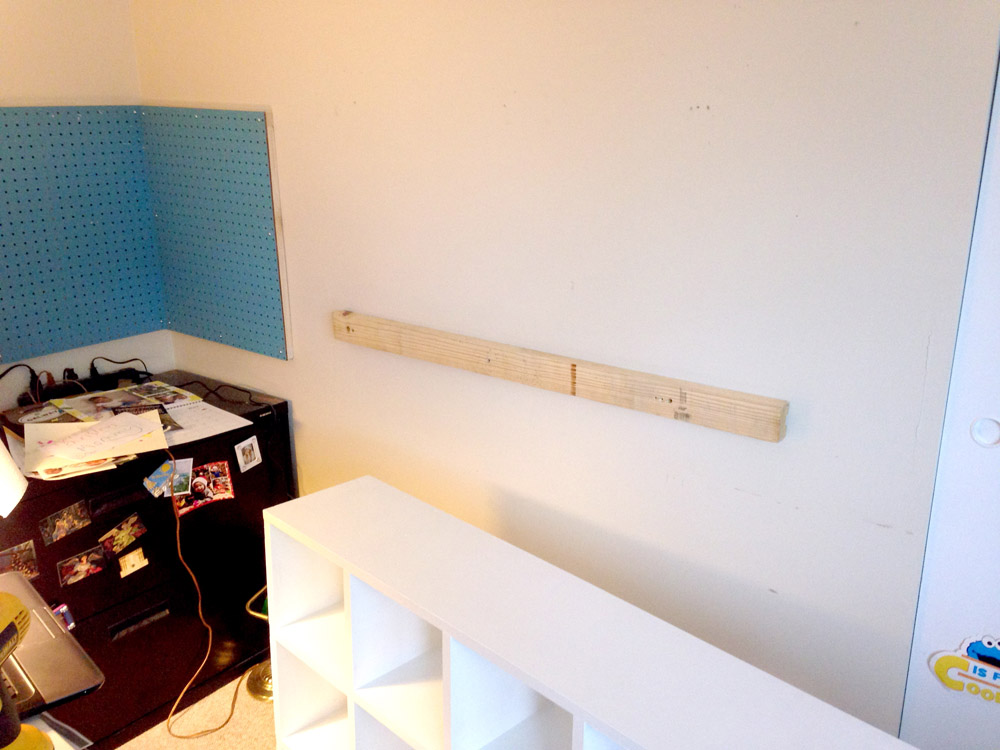 Free plans for DIY cubby shelves, pegboard, and basic shelving