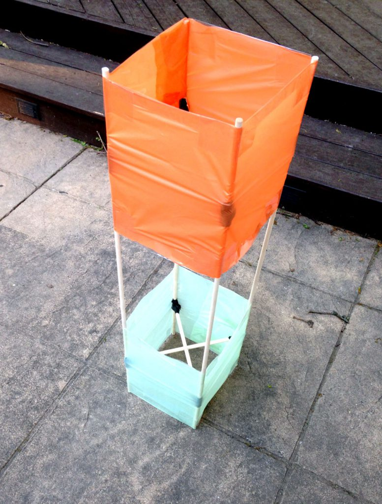 How to Make a Box Kite from Scratch with Plastic Tablecloths