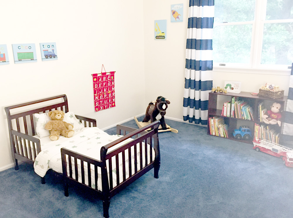 Toddler Room Makeover Reveal - Using Old and New Things for a Brand-New Look
