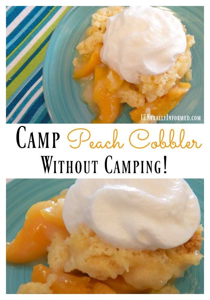 Easy Peach Cobbler Recipe that You Can Make While Camping