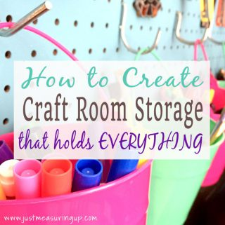 Free DIY plans for making cubby shelves, floating shelves, and pegboard