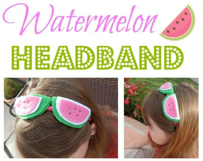 How to Make a DIY Watermelon Headband