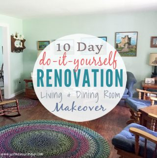10 Day Living Room and Dining Room Makeover Reveal