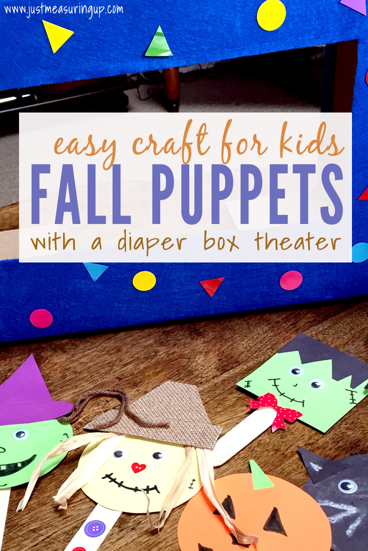 Easy Fall Craft for Toddlers - Popsicle Stick Puppets with a Theater