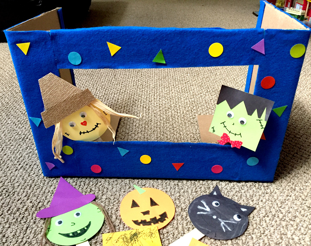 Making Easy Popsicle Stick Puppets with a Puppet Theater