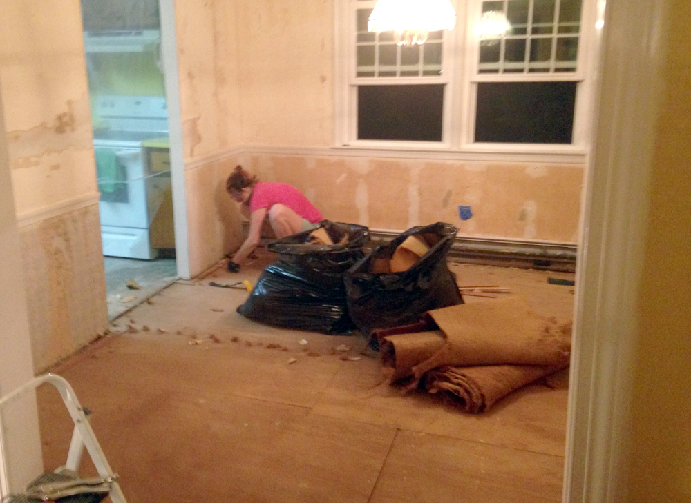 Removing Old Carpeting in a DIY Renovation