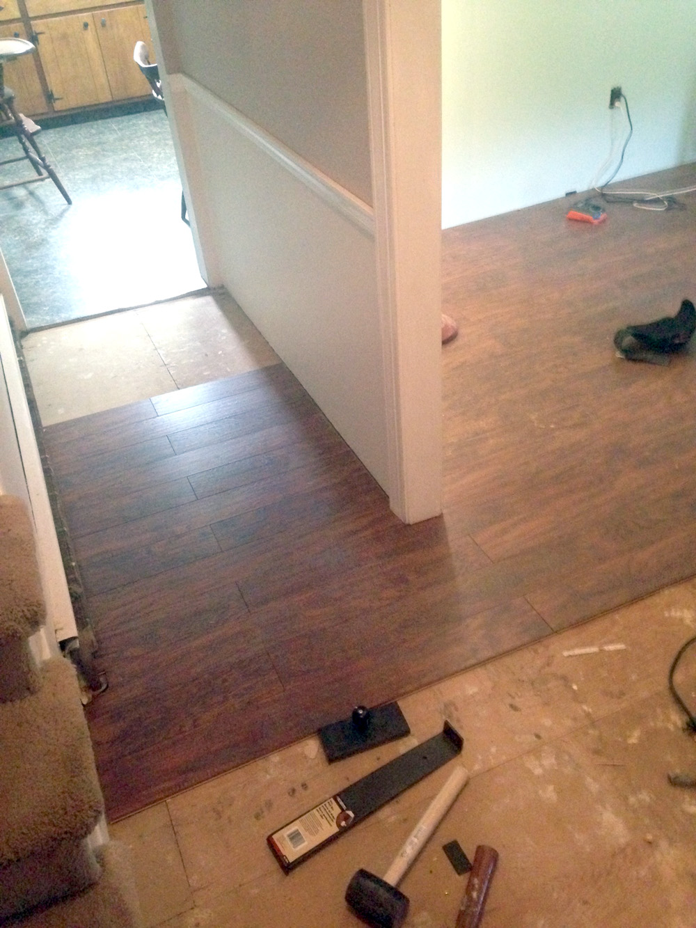 How to Install Laminate Flooring in a 10-Day Two Room Renovation