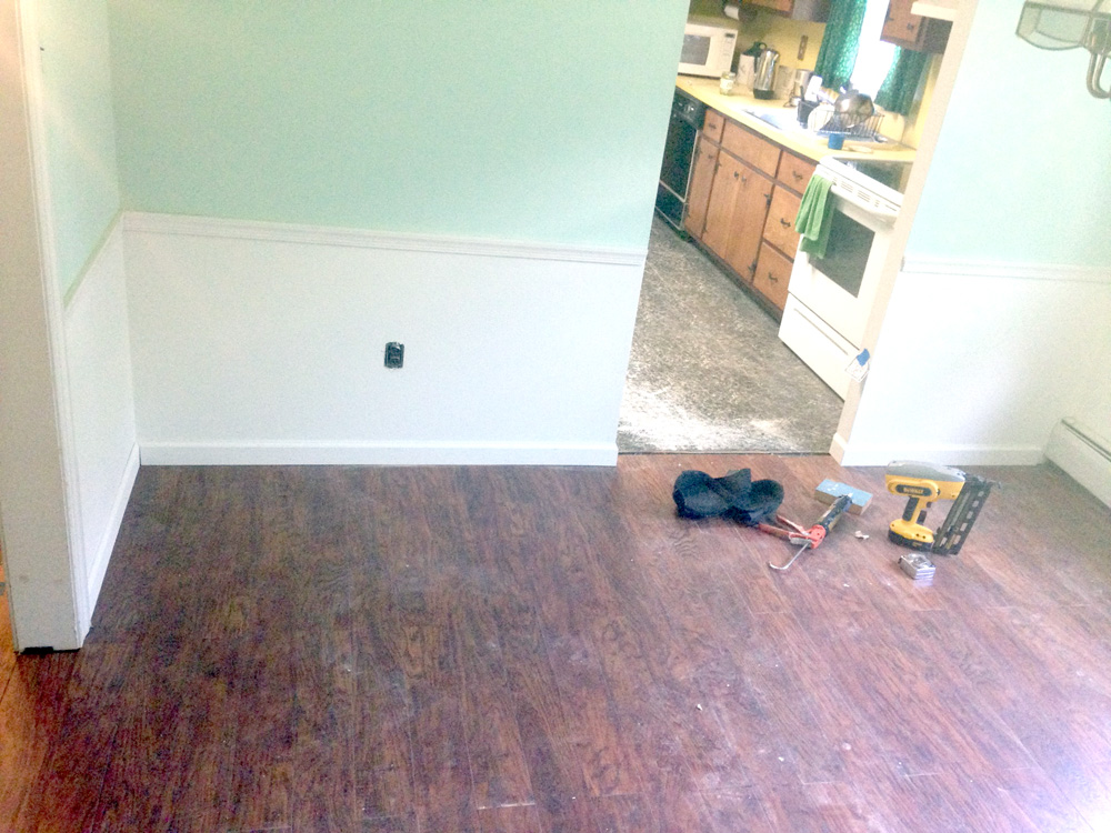 Installing Baseboard during the 10-Day, Two Room Renovation Challenge
