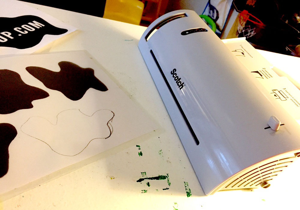 Using a Laminator for a Weatherproof Robot Decals