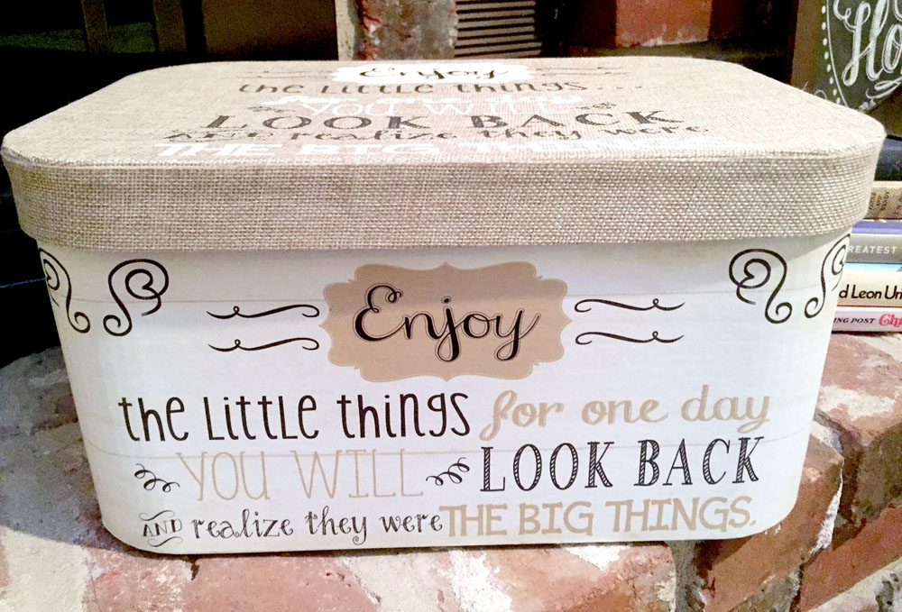 DIY Home Organization Tips #5 Use Pretty Boxes to Hide Things