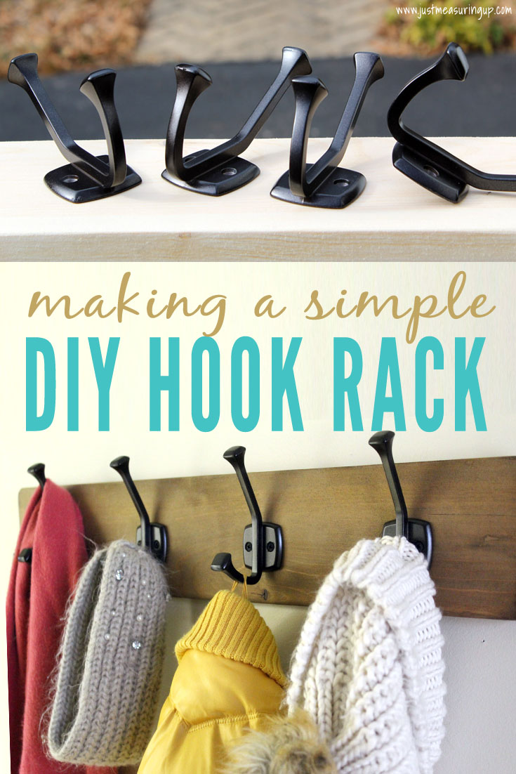 How to Build a Wall-Mounted Hook Rack
