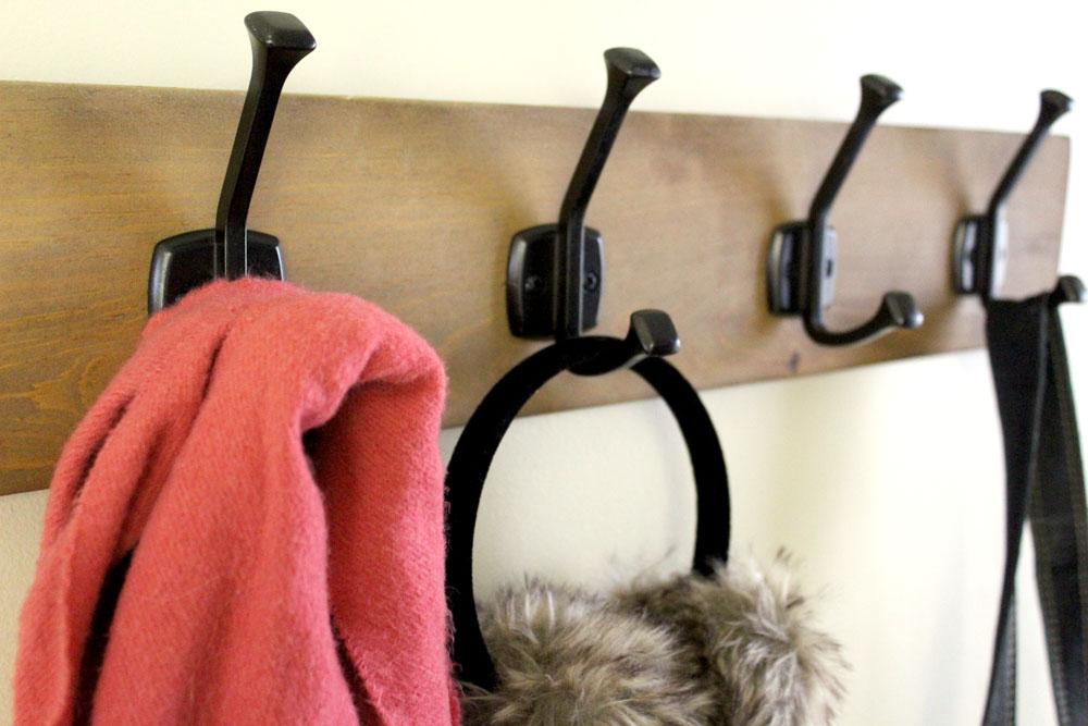 DIY Entryway Projects - Build a Scrap Wood Hook Rack