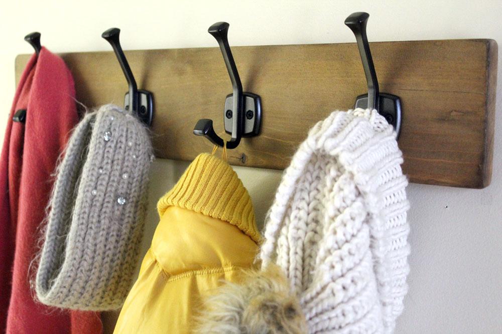 Making a DIY coat rack from scrap wood