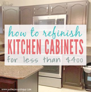 Thrifty Kitchen Cabinet Makeover