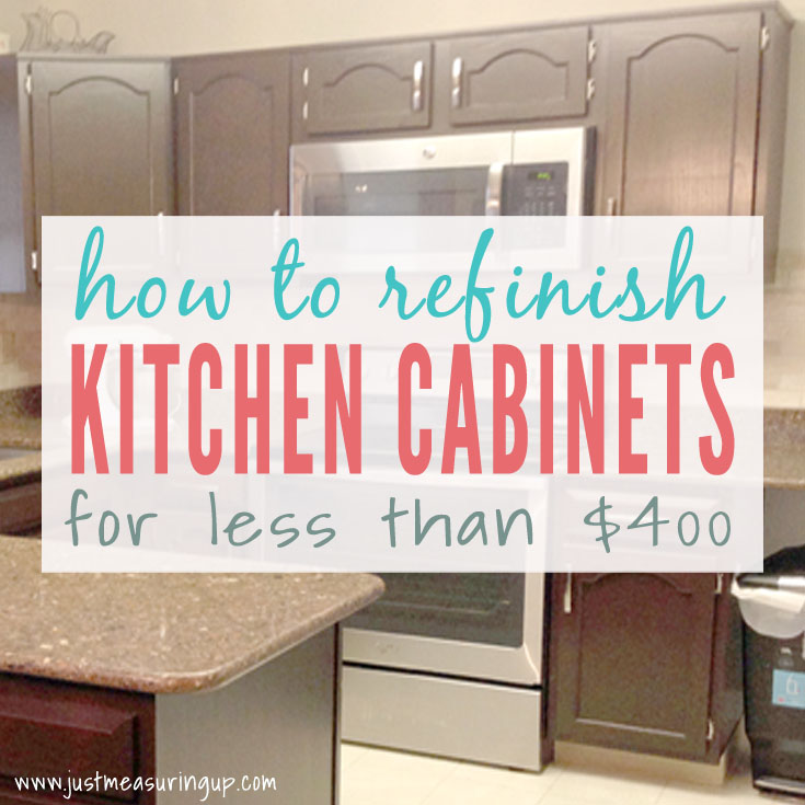 Gel Staining Kitchen Cabinets for a Thrifty Update