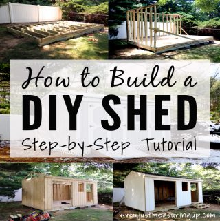 This is a great tutorial on how to build a shed with step by step instructions.