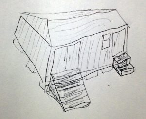 How to Build a Shed from Scratch - Initial Sketch