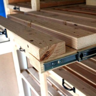 Making Sliding Storage Shelves in One Weekend