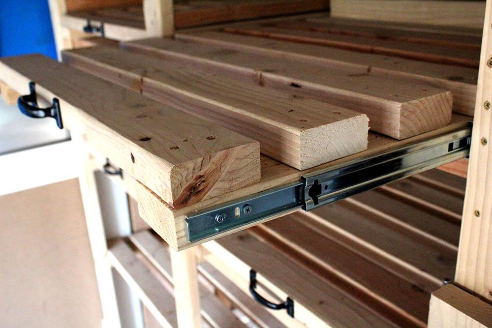 Sliding Storage Shelves How To Make Diy Garage Storage Shelves