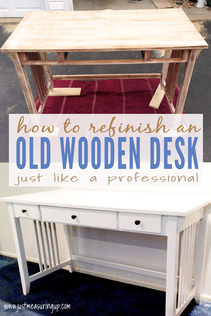 Painting an Old Wooden Desk White