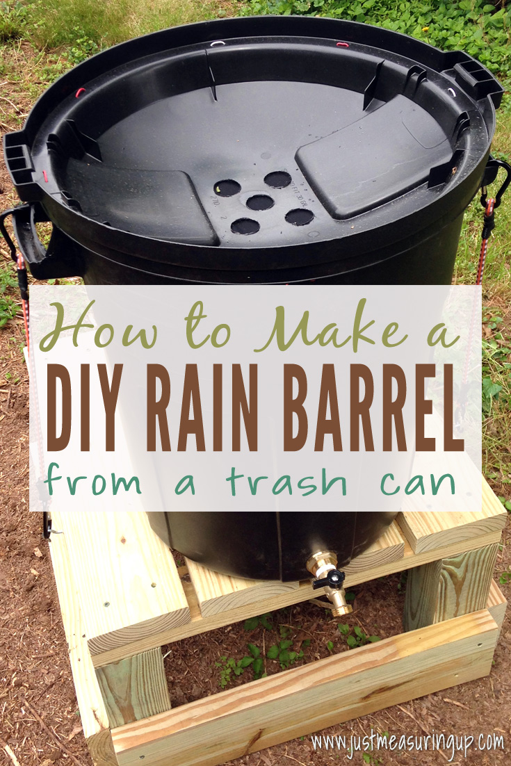 DIY Rain Barrel from a Trash Can