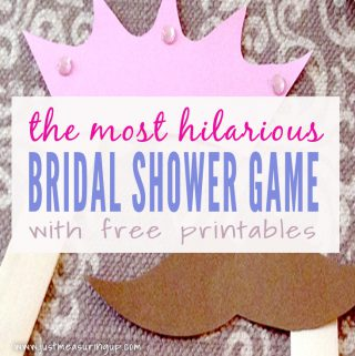 Easy and Fun Bridal Shower Game with Free Printables