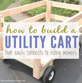How to Make a DIY Yard Utility Cart