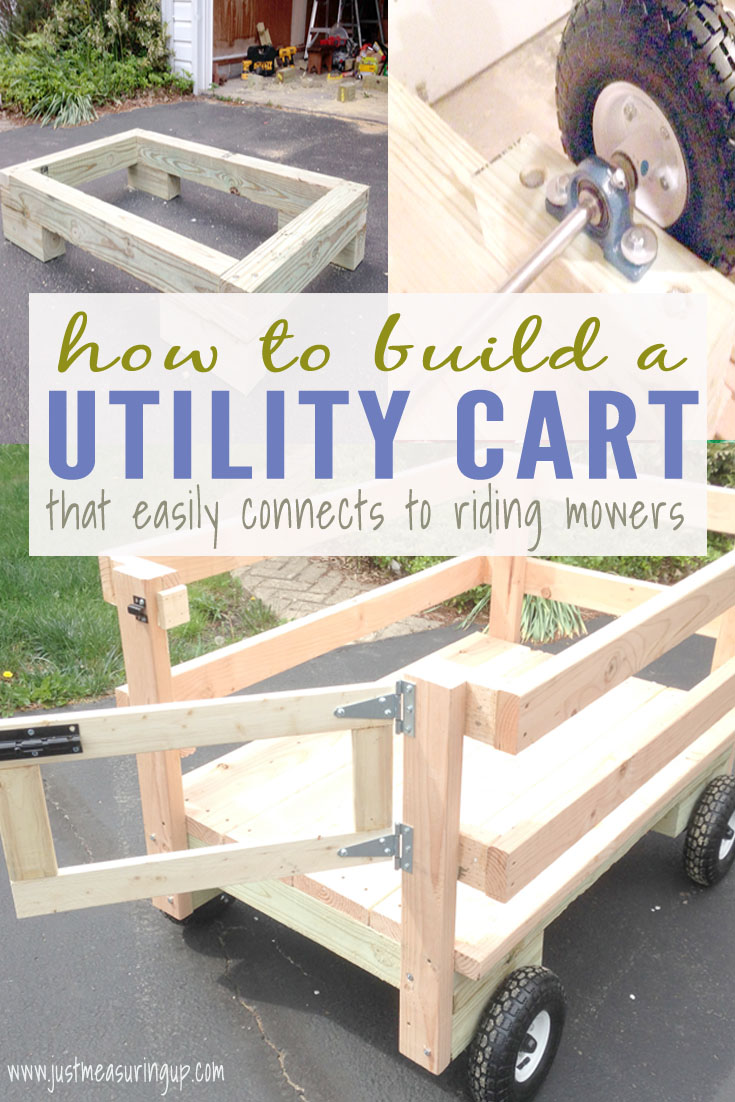 Wooden Wagon Utility Cart with DIY simple wagon steering