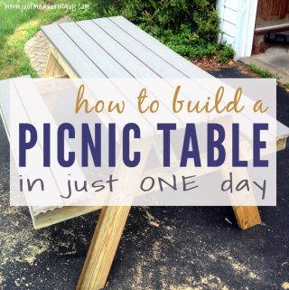 Building a picnic table in one day - easy instructions