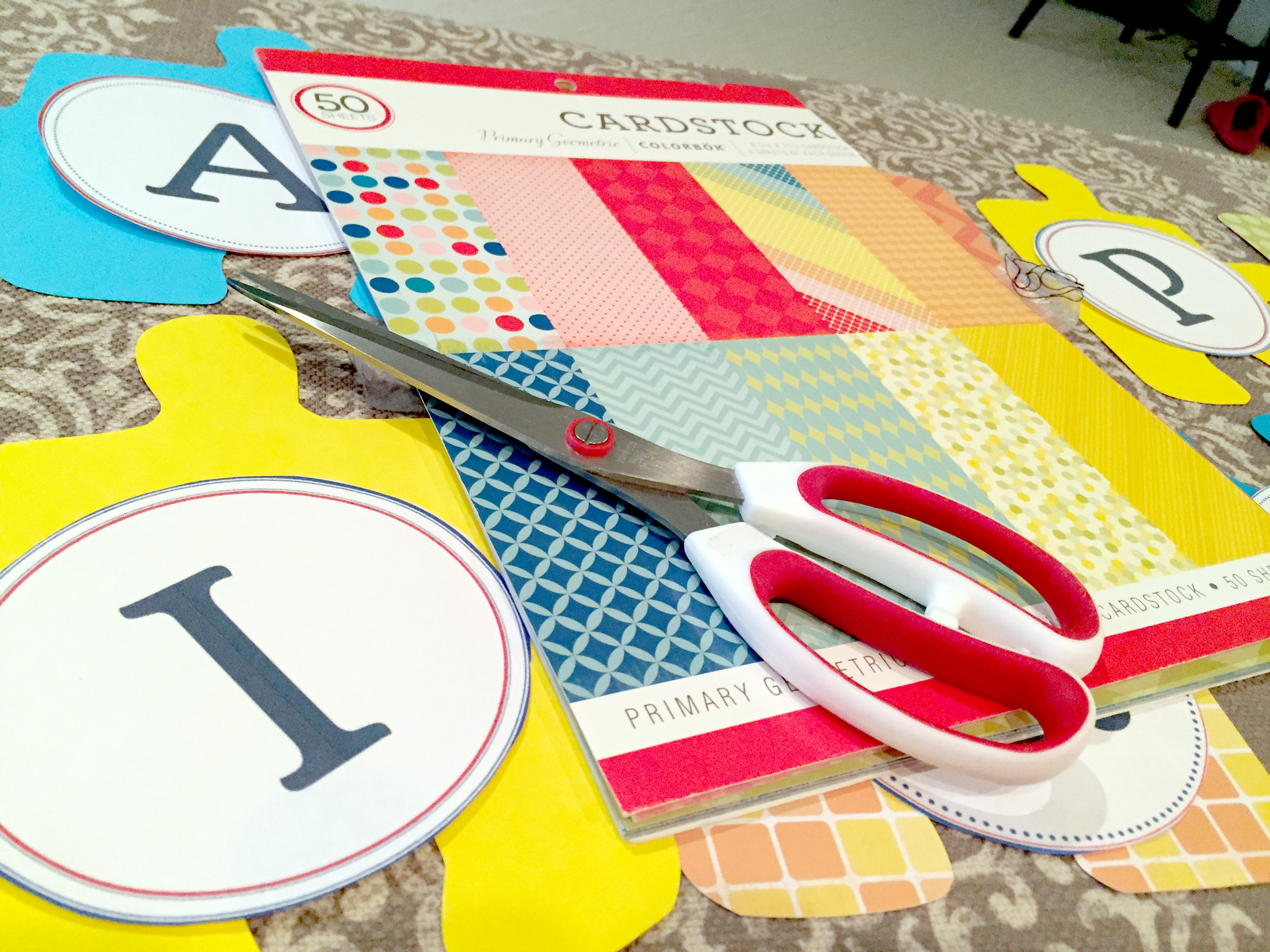 How to DIY with Free Printable Banner Letters - Customize for Any Occasion