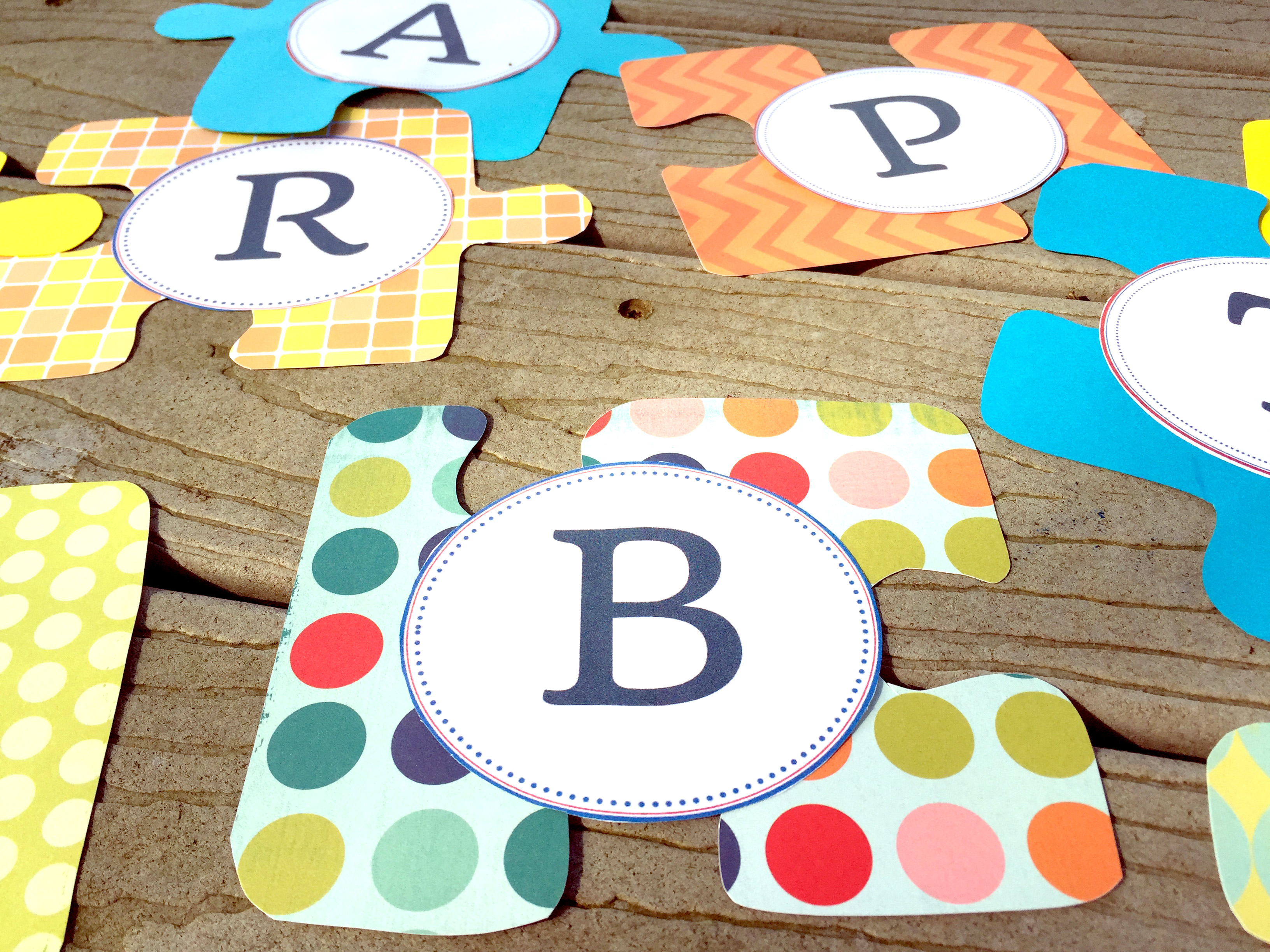 Make your own DIY party banner with these free printable letters!