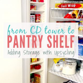 Turning a CD Tower into a Pantry Shelf - Pantry Storage Ideas