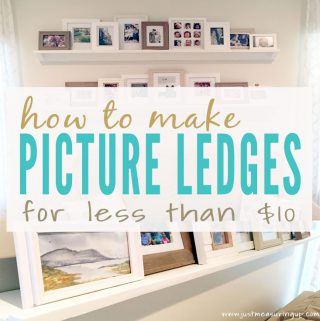 How to Make DIY Picture Ledges