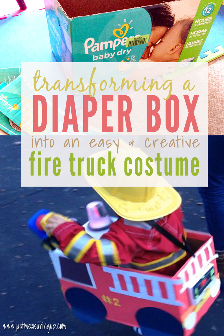 DIY Fire Truck Costume for Kids