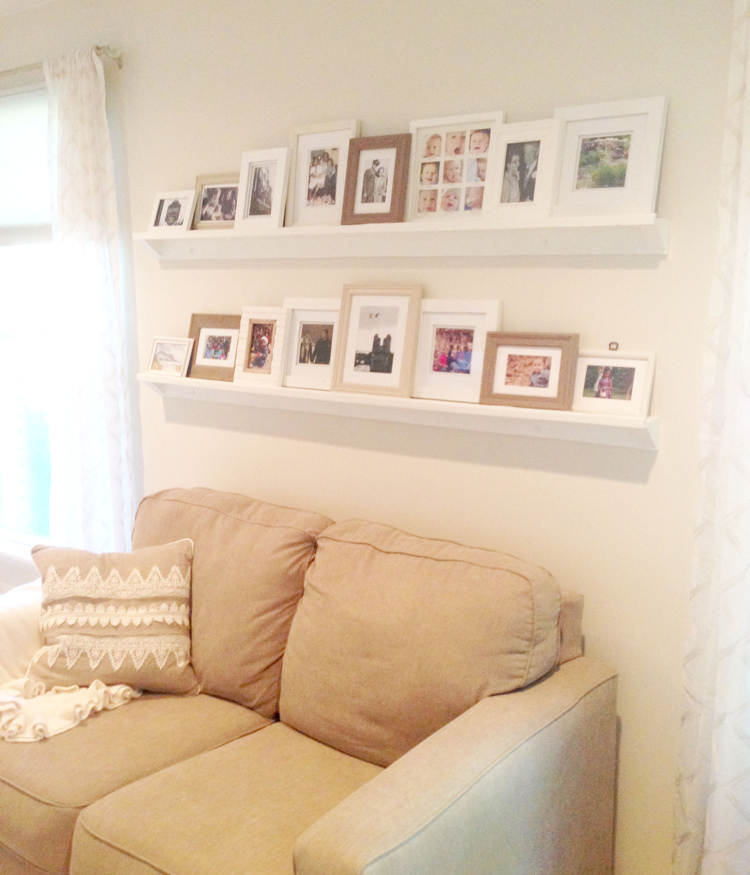 How to Make Picture Ledges for Under $10
