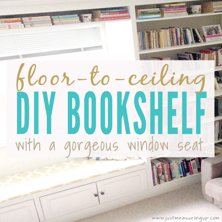 diy built in bookshelves how to build a window seat bookcase tutorial - Built In Bookshelves Diy