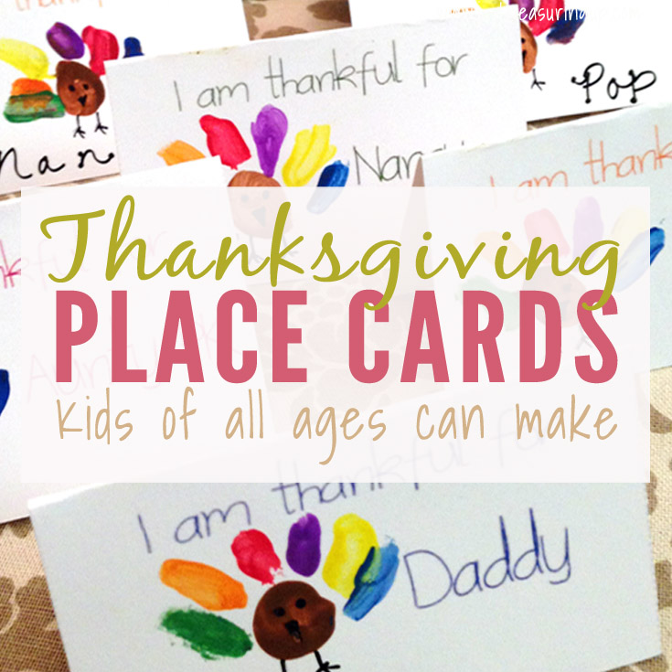 Thanksgiving Place Cards That Kids Can Make Free Printable