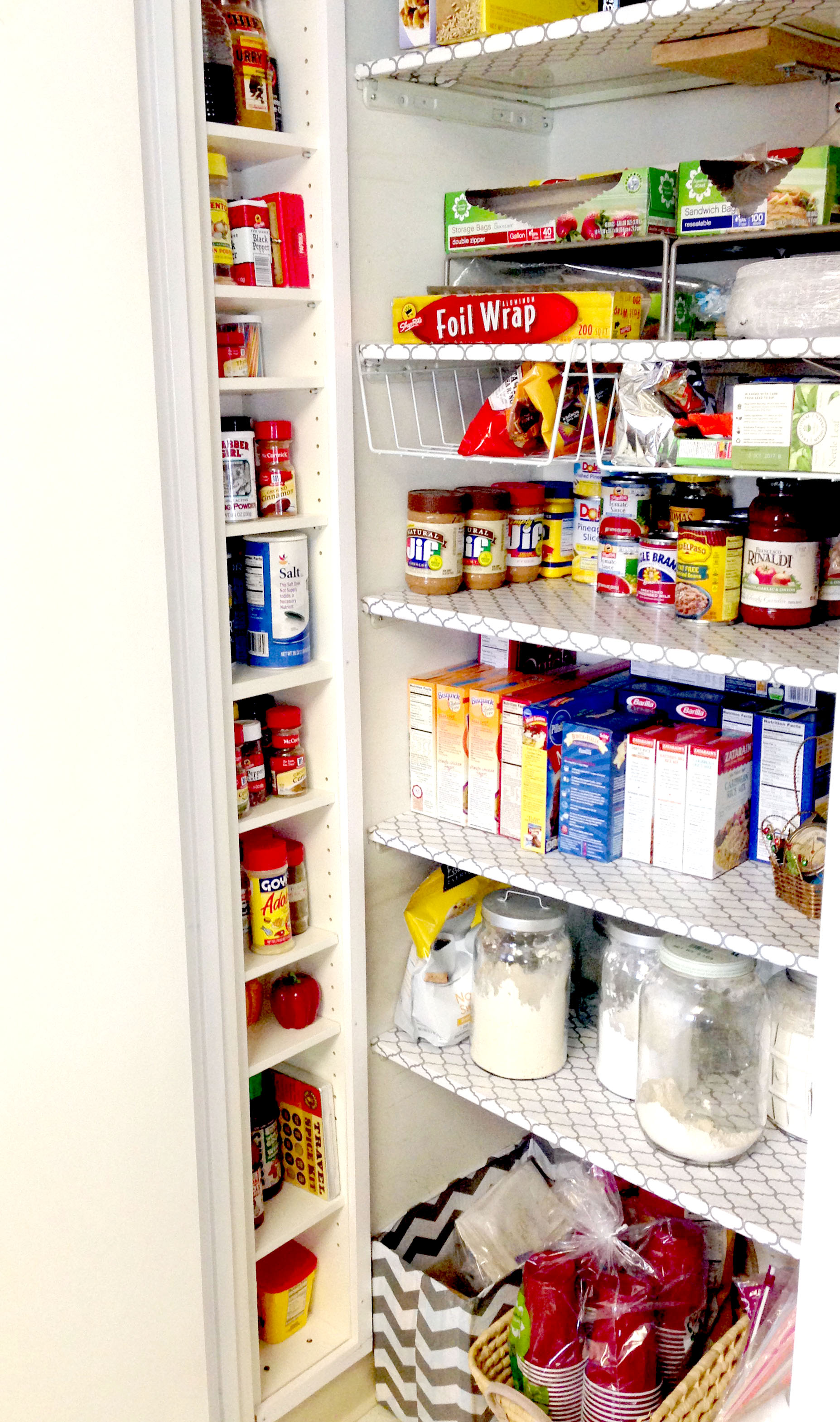 How to Upcycle a CD Tower into Pantry Shelving - Best DIY Projects